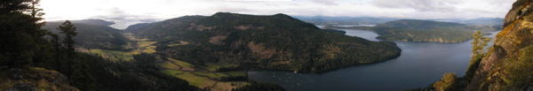 Mount Maxwell, Salt Spring Island, British Columbia, Panorama, original is 6 'x1'